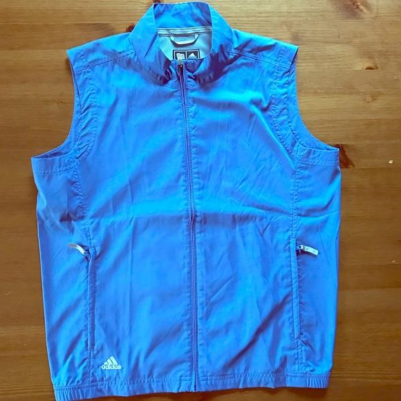 Great Adidas light Purple Clima proof zip up vest